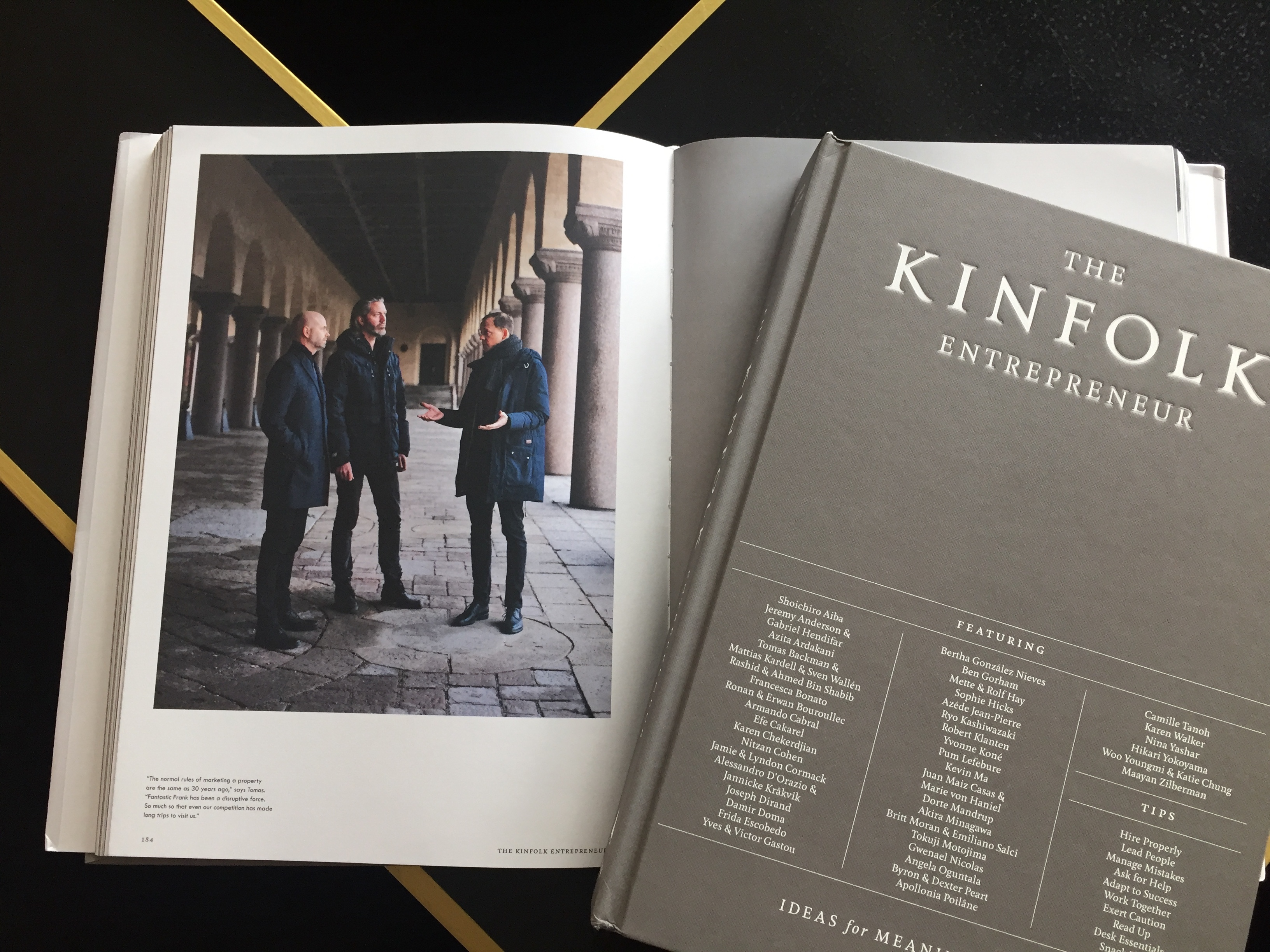 Kinfolk lists Fantastic Frank among 40 entrepreneurs tomas backman sven wallen mattias kardell