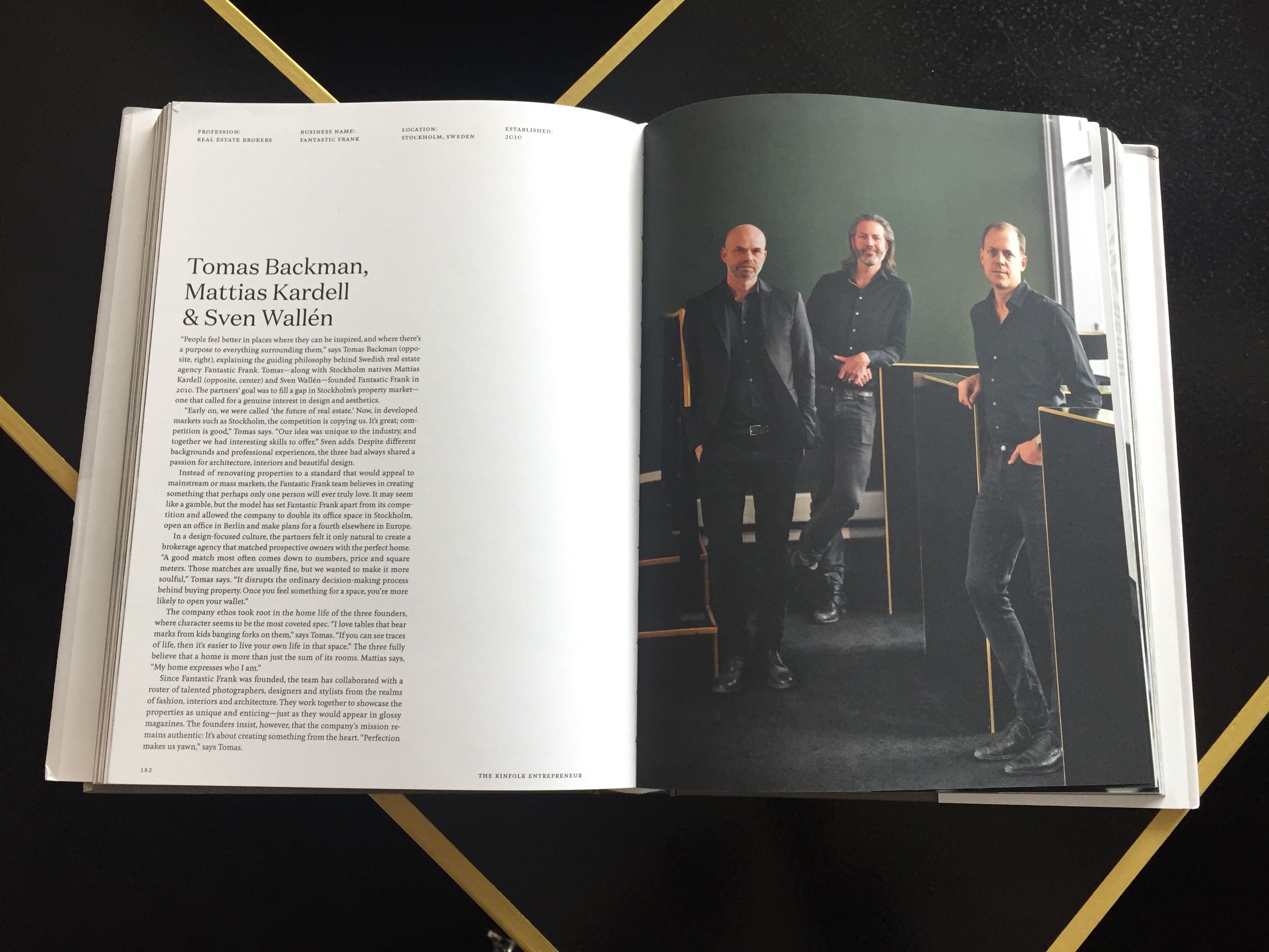 Kinfolk lists Fantastic Frank sven wallen mattias kardell 40 entrepreneurs tomas backman