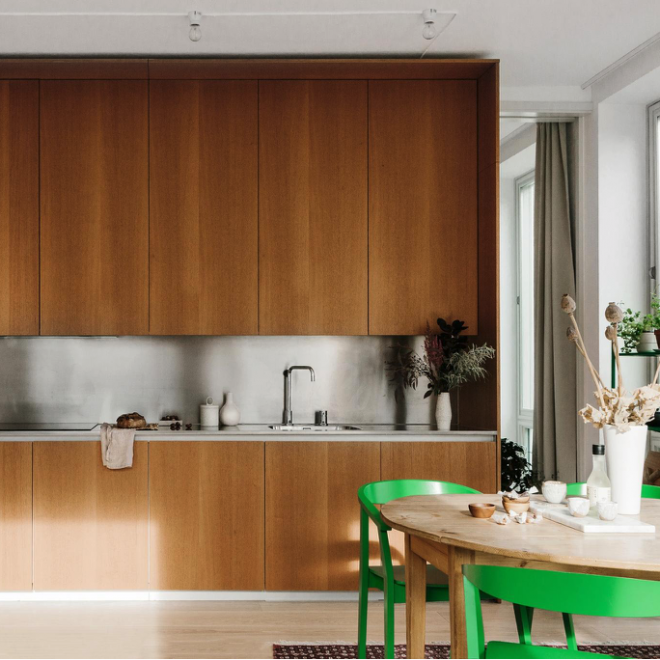 Spanish cedar - Scandinavian kitchen