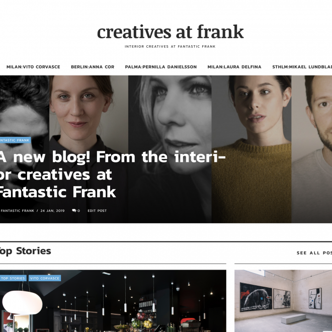 Interior creatives in Milano, Berlin, Palma and Stockholm share their minds in this new blog format.